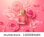 valentine's day sale template... | Shutterstock .eps vector #1300084684