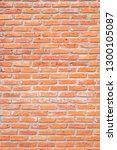 empty vertical brick wall.... | Shutterstock . vector #1300105087