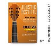 the acoustic music festival ... | Shutterstock .eps vector #1300116757
