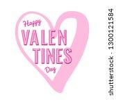 happy valentines day vector... | Shutterstock .eps vector #1300121584