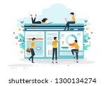 business concept  for banner...   Shutterstock .eps vector #1300134274