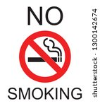 no smoking logo   image | Shutterstock .eps vector #1300142674