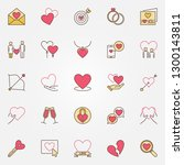 love colorful icons set   saint ... | Shutterstock .eps vector #1300143811