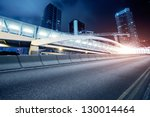 traffic in hong kong at night   Shutterstock . vector #130014464