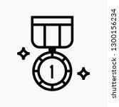 medal award concept line icon....