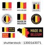 made in belgium labels set ... | Shutterstock .eps vector #1300163071