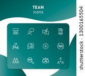 team icons. set of line icons.... | Shutterstock .eps vector #1300165504