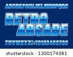 retro arcade alphabet font.... | Shutterstock .eps vector #1300174381