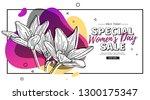 modern template design for 8... | Shutterstock .eps vector #1300175347