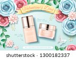 valentine's day foundation ads...   Shutterstock .eps vector #1300182337
