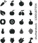 solid black vector icon set  ... | Shutterstock .eps vector #1300187554