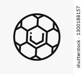 ball concept line icon. simple... | Shutterstock .eps vector #1300188157