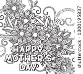 happy mother's day coloring... | Shutterstock . vector #1300195837