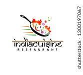 india cuisine restaurant logo... | Shutterstock .eps vector #1300197067