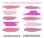 hipster label brush stroke... | Shutterstock .eps vector #1300203361