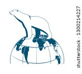 polar bear on globe vector icon | Shutterstock .eps vector #1300214227