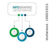 vector infographic template for ... | Shutterstock .eps vector #1300215211