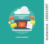 cloud network  network security ... | Shutterstock .eps vector #1300221907