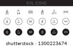 evil icons set. collection of...   Shutterstock .eps vector #1300223674