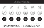 melody icons set. collection of ... | Shutterstock .eps vector #1300223734