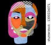 woman portrait in modern... | Shutterstock . vector #1300226071