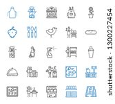 cook icons set. collection of... | Shutterstock .eps vector #1300227454