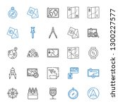 cartography icons set....   Shutterstock .eps vector #1300227577
