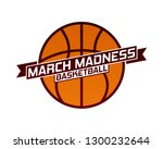 march madness basketball sport... | Shutterstock .eps vector #1300232644