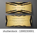 luxury gold gift voucher  gift... | Shutterstock .eps vector #1300233001