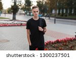 handsome stylish young man in a ... | Shutterstock . vector #1300237501