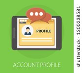 vector illustration of account  ... | Shutterstock .eps vector #1300238581