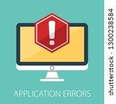 concept of application error.... | Shutterstock .eps vector #1300238584