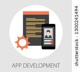 web and app development... | Shutterstock .eps vector #1300241494