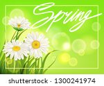 spring daisies background fresh ...   Shutterstock .eps vector #1300241974