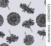 seamless daisy pattern. vector... | Shutterstock .eps vector #1300246351