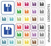 compressed file color flat... | Shutterstock .eps vector #1300254751