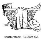 luxurious bath   retro clip art ... | Shutterstock .eps vector #130025561