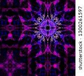 kaleidoscope color pattern....   Shutterstock . vector #1300261597