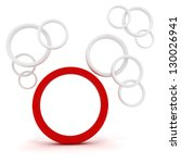 3d abstract circles on white... | Shutterstock . vector #130026941