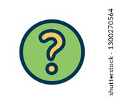 question support icon | Shutterstock .eps vector #1300270564