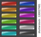 set of colored transparent... | Shutterstock .eps vector #130027481