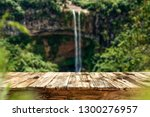 wooden table on the background... | Shutterstock . vector #1300276957