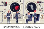 astronauts are men and women... | Shutterstock .eps vector #1300277677