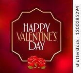 14 february valentine's day... | Shutterstock .eps vector #1300285294