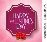 14 february valentine's day... | Shutterstock .eps vector #1300285297