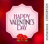 14 february valentine's day... | Shutterstock .eps vector #1300285324
