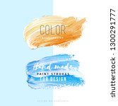hand drawn color paint strokes...   Shutterstock .eps vector #1300291777