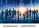 large business group working... | Shutterstock . vector #1300294951