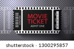 admission movie ticket template.... | Shutterstock .eps vector #1300295857