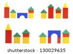 collection designer cubes color ... | Shutterstock . vector #130029635
